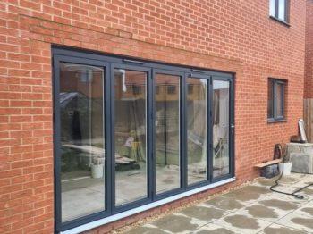 aluminium bi-fold doors completed