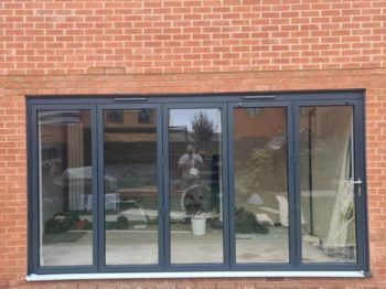 aluminium bi-fold doors front view